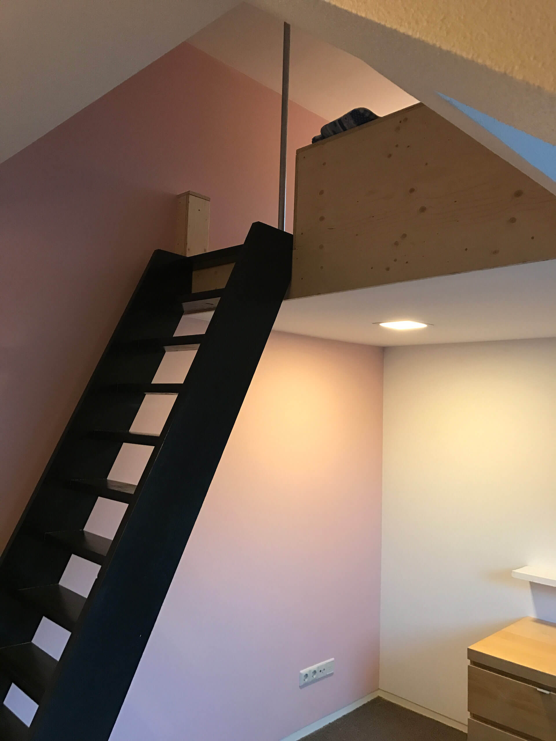 Binnen stucwerk slaapkamer